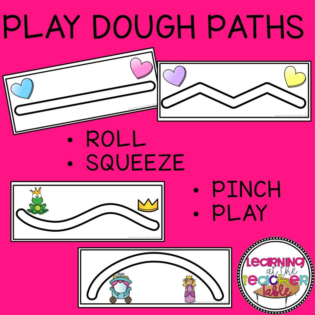 play dough path