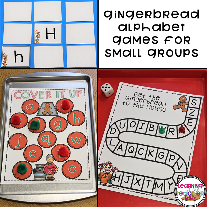 ABC games gingerbread lesson plans
