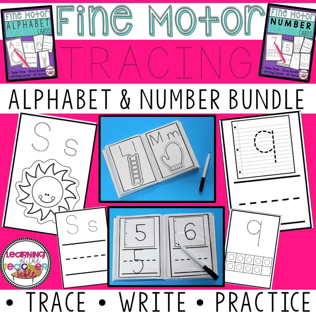 alphabet number tracing bundle