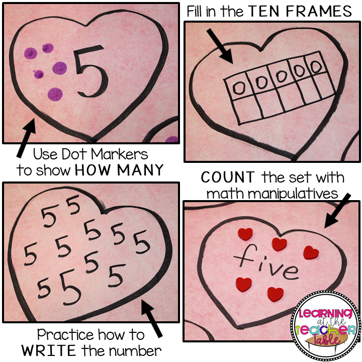 Small Group math for valentine's day