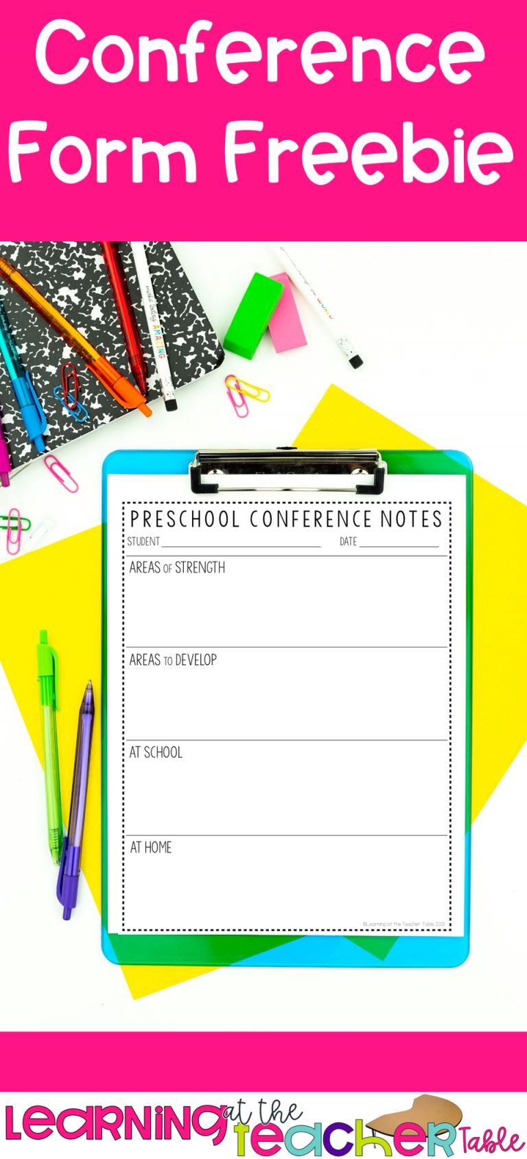 Teacher Parent Conference Form