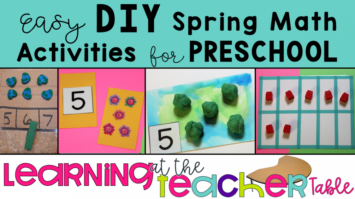 DIY preschool math activities for spring