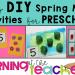 DIY preschool math activities for spring