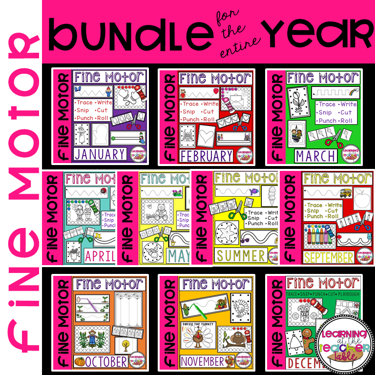 Fine Motor Bundle for the Year