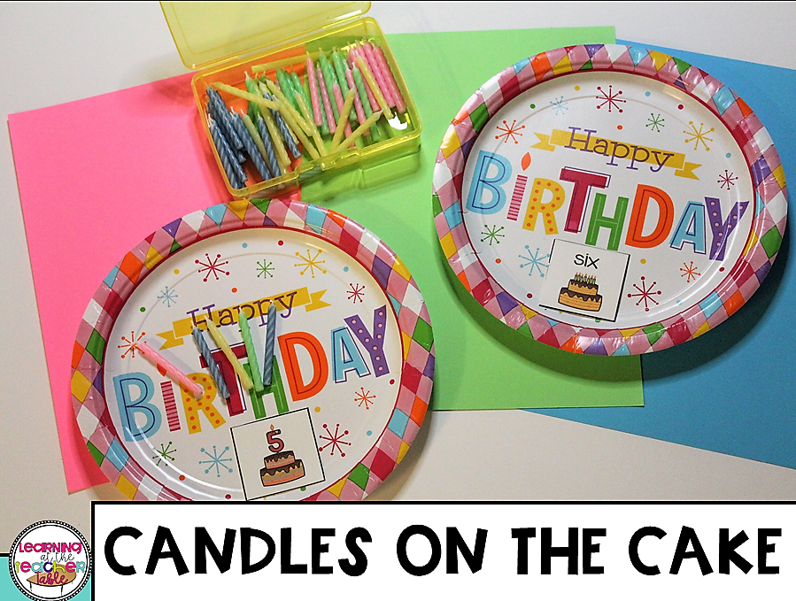 counting activity using birthday candles