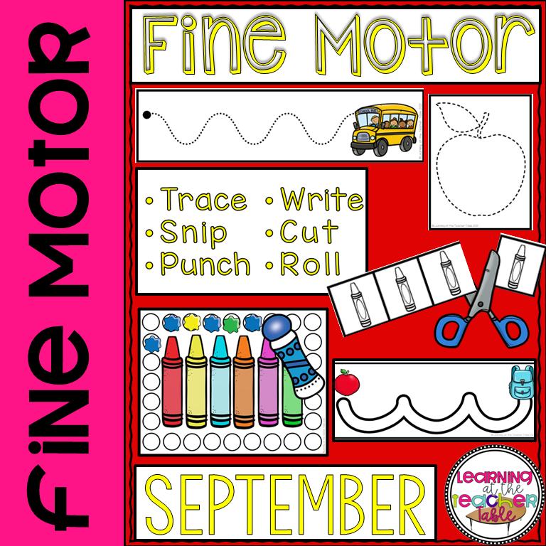 Fine Motor for September cover