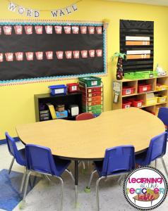 preschool small groups area